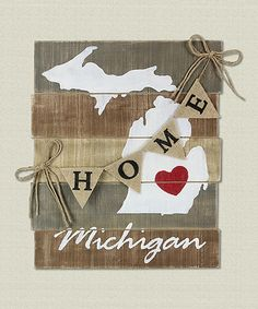 Look at this 'Michigan' Wood Slat Wall Art on #zulily today!