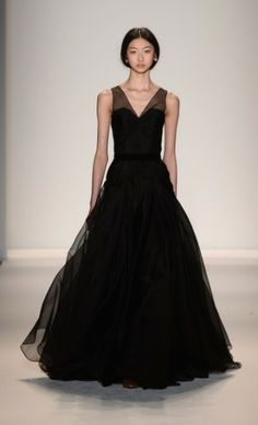 Black Gown   Jenny Packham Fall 2013