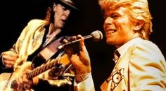 "Caught On Tape: Stevie Ray Vaughan Rehearses ""Let's Dance"" With David Bowie"