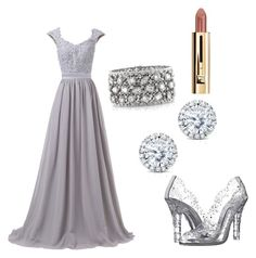 """Silver Beauty by Anna"" by lorena-cuttler on Polyvore featuring Dolce&Gabbana, Kobelli and Mark Broumand"