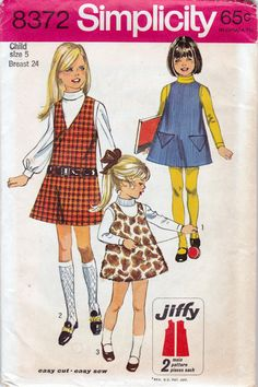 60s Girls Sewing Pattern Simplicity 8372  by allthepreciousthings, $7.50