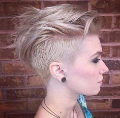 Shaved Hairstyles 2017 Sides with Short Layered Mohawk