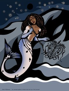 """The Mermaid Goddess La Sirène"" by MoDemeter"