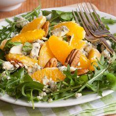 Salade à l'orange, au roquefort et aux noix