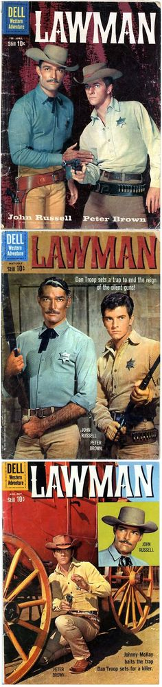 Lawman (1958-62, ABC) starring John Russell as 'Dan Troop' the town marshal of Laramie & Peter Brown as his deputy marshal 'Johnny McKay'