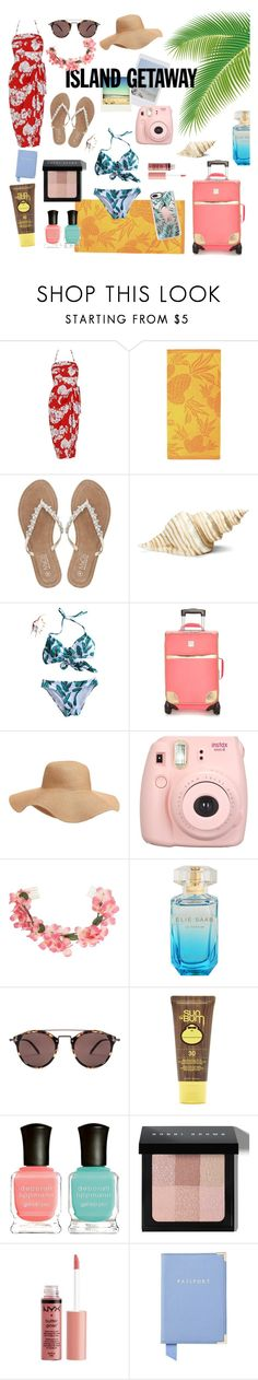 """""""Island getaway #1"""" by annabmikkelsen ❤ liked on Polyvore featuring Polaroid, M&Co, Roman, New Directions, Old Navy, Fujifilm, Miss Selfridge, Oliver Peoples, Forever 21 and Deborah Lippmann"""