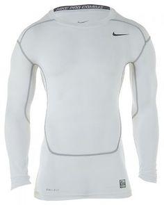 Nike CORE COMPRESSION LS TOP 2.0 Mens Active Shirts 449794-100 Grey SZ-XL