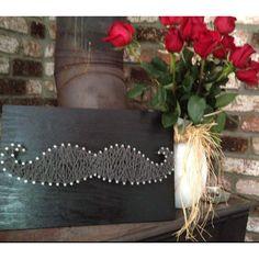 Mustache string art, summer craft