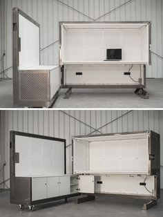 Few spaces need as much flexibility as offices, where scaling is crucial and change is frequent. Thus future-thinking creations like the BEEBOX, an all-in-one system for turning empty rooms into instant work areas. Fold it open to reveal a desk and cupboards for storage, but also acoustic panels ...
