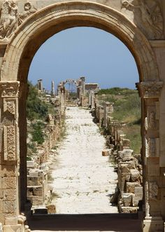 Leptis Magna, Roman city in Libya    THE LIBYAN  Esther Kofod  www.estherkofod.com