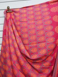 Femmes: Vêtements Autres Tissu 5mtr De Tissu De Sari Orange Tissé Par Soie Ethnique Indienne Vintage A Wide Selection Of Colours And Designs