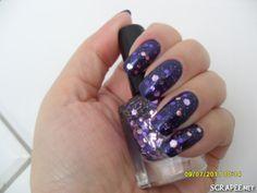 https://flic.kr/p/a2NUeV | Marina (SA) + Blueberries Frozen (Pure Glam SA) | Amei essa combinação!!!  Usei:  2x Marina (SA) 1x Blueberries Frozen (Pure Glam SA) Extra brilho Ideal