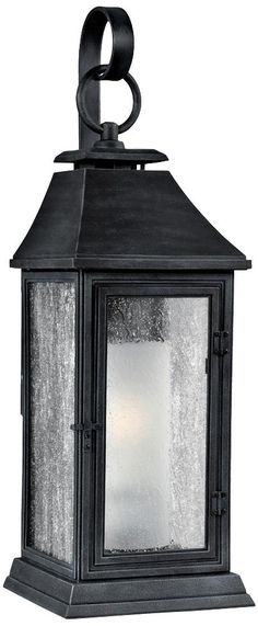 "Feiss Shepherd 19"" High Weathered Zinc Outdoor Wall Light"