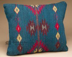 Woven Southwestern Zapotec Indian Pillow 12x16 (k)