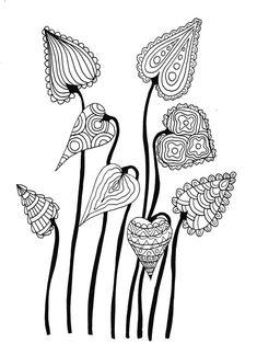 Leaves Inked Doodle by WelshPixie on DeviantArt