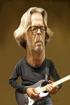 Won a caricature challenge with this caricature of Eric Clapton ,.over 150 of the beat caricature arties from all over the world Eric Clapton, Caricature Artist, Caricature Drawing, Funny Caricatures, Celebrity Caricatures, Cartoon Drawings, Cartoon Art, Face Sketch, Funny Art