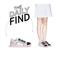 """The Daily Find: Sophia Webster Leather Sneakers"" by polyvore-editorial ❤ liked on Polyvore featuring Sophia Webster and DailyFind"