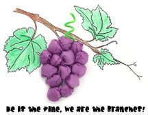 Print out a picture of a bunch of grapes hanging on a vine. Cut pieces of purple crepe paper into 6-inch square shapes. Have your children scrunch up the crepe paper pieces into balls and glue them to the picture to make the grapes.