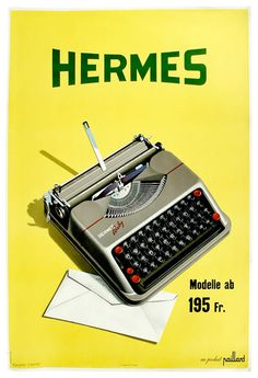 Vintage Hermes poster, designed by Herbert Leupin in 1947.