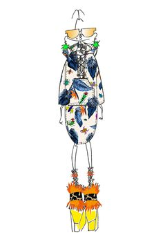 Illustration by Henry Holland   House of Holland Spring/Summer 2016 Collection Inspiration