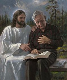 Touched By The Scriptures: Jon McNaughton. Read the holy Bible WITH Jesus every day. Pictures Of Christ, Religious Pictures, Jesus Art, Jesus Is Lord, Words Of Jesus, Jon Mcnaughton, Image Jesus, Lds Art, Jesus Christus