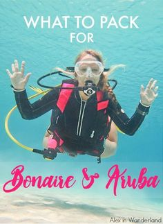 What I packed for a 10-day trip to Bonaire and Aruba, including all my diving and blogging gear. | Alex in Wanderland