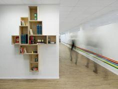 ספריות. מגדל שלום, ספיבק פרידלר עיצוב פנים