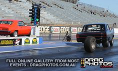 Don't you hate it when you lose a wheel? Nostalgia Racing at Willowbank Raceway (August 2012) credit - dragphotos.com.au