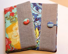Fabric Portfolio and Notepad Holder to carry in your purse.  Great tutorial with lots of photos!