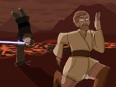 "hokalinart ""You underestimate my power!"" -Anakin Skywalker"