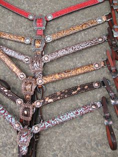 """""""Haywire"""" belt-style breast collars by Running Roan Tack"""