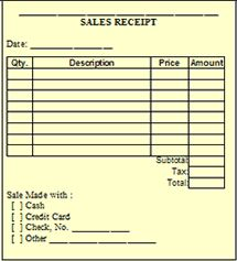 sales receipts forms printable