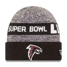 Men's New Era Heathered Gray/Black Atlanta Falcons Super Bowl LI Bound Cuffed Knit Hat