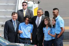 Welcoming ceremony to Barack Obama in his recent trip to Costa Rica this year.