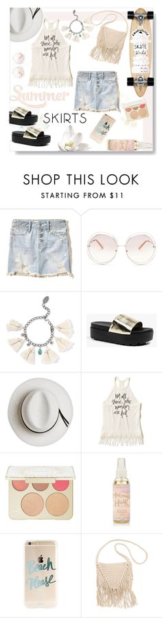 """Lost?"" by mkanzee ❤ liked on Polyvore featuring Hollister Co., Chloé, Chan Luu, Boohoo, Calypso Private Label, Becca, Billabong, Isabel Marant, under50 and summer2016"