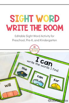 Send your learners off around the classroom or another part of the school to practice sight word spelling. These sight word cards are editable to help with differentiated learning. This resource includes printable cards that fit a variety of themes in your classroom along with a recording sheet for students to record each word as they find them. #sightwords #thematiclearning #literacy #kindergarten Sight Word Spelling, Teaching Sight Words, Sight Word Practice, Sight Word Activities, Cvc Words, Beginning Reading, Guided Reading, Kindergarten Literacy, Early Literacy