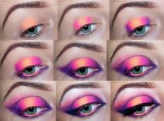 Fiery Violet Tutorial with #Addictedtomakeup  VISIT SITE FOR DETAILS. #bbloggers #makeup #eye #violet #bright #tutorial #pictorial #howto