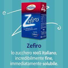 Zefiro, lo zucchero 100% italiano, incredibilmente fine, immediatamente solubile, è ideale per la preparazione di dolci perché si unisce perfettamente all'impasto. Così straordinario sulla frutta, nello yogurt, nel thè, nel caffè e nelle bevande fredde che non occorre nemmeno mescolare. #zucchero #sugar #italy #food