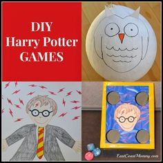 Easy and inexpensive DIY Harry Potter Party Games -- super cute!