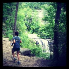 Runners pass Lula Falls #trailrunning #RCrun