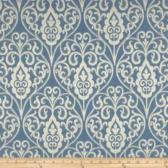 Waverly Williamsburg Bristol Scroll Jacquard Cornflower - Discount Designer Fabric - Fabric.com