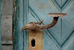 Hohenkirchen, Wangerland, doorknob by groenling, via Flickr ~ Lower Saxony, Germany