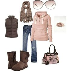 pink style for winter outfit