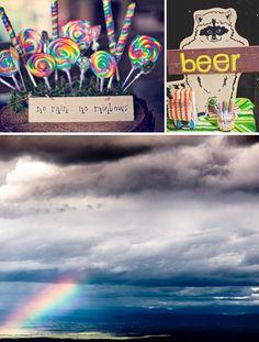 Rainbows & doves wedding inspiration board