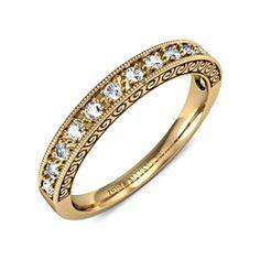 Alliance demi tour diamant or jaune  Christy