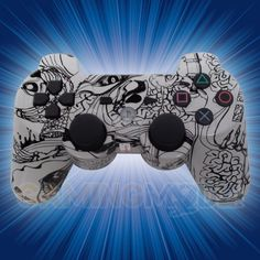 This is our Zombie Brains Playstation 3 Modded Controller. AHHH! ZOMBIES!! And lots of them! Our newest zombie controllers are out and are scarier than ever. Featuring a new hydro pattern that we just got, these controllers look fantastic. The zombie fans in your life are going to love these! Available immediately exclusively from GamingModz.com.