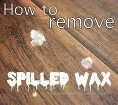 Simple trick for getting rid of spilled wax.  Works on floors and clothes!