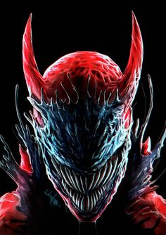 Carnage Symbiote Daredevil by Eugene Gore / junkome on ArtStation. Venom Spiderman, Marvel Venom, Marvel Villains, Spiderman Art, Marvel Heroes, Marvel Avengers, Iceman Marvel, Venom Comics, Marvel Comics Art