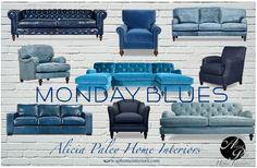 Blue Seating - Alicia Paley Home Interiors - www.aphomeinteriors.com