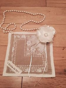 Lace L Plate Bride To Be Vintage Shabby Chic Style Sash Hen Party Wedding | eBay